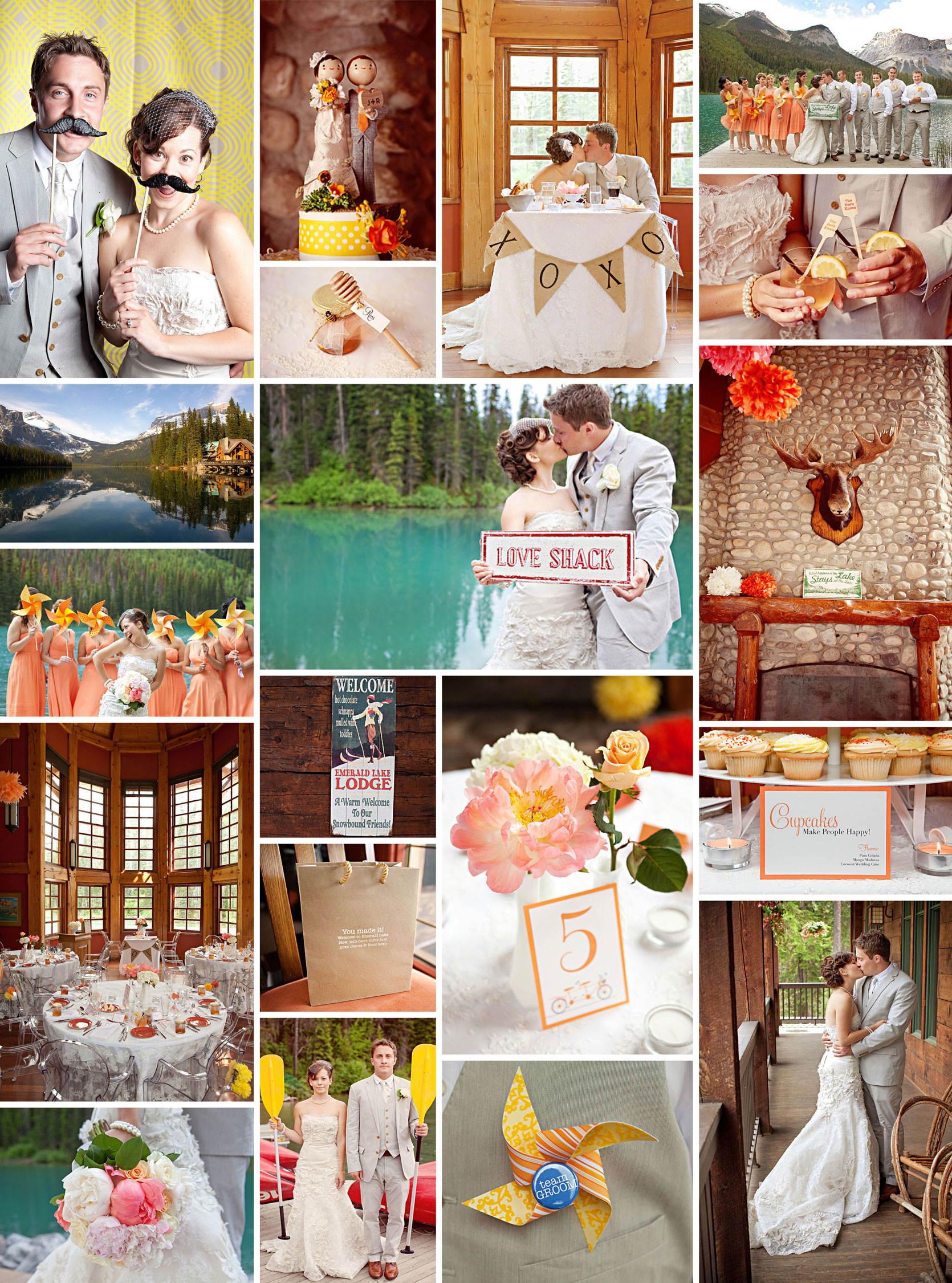Canadian Rockies Wedding from Style Me Pretty