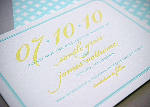 royal blue yellow contemporary wedding