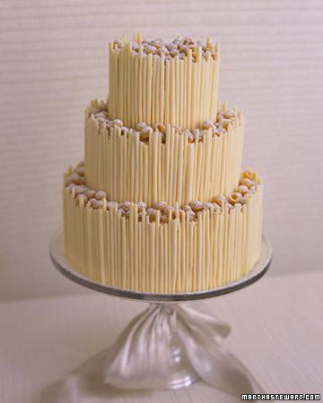 White Chocolate Tower Cake