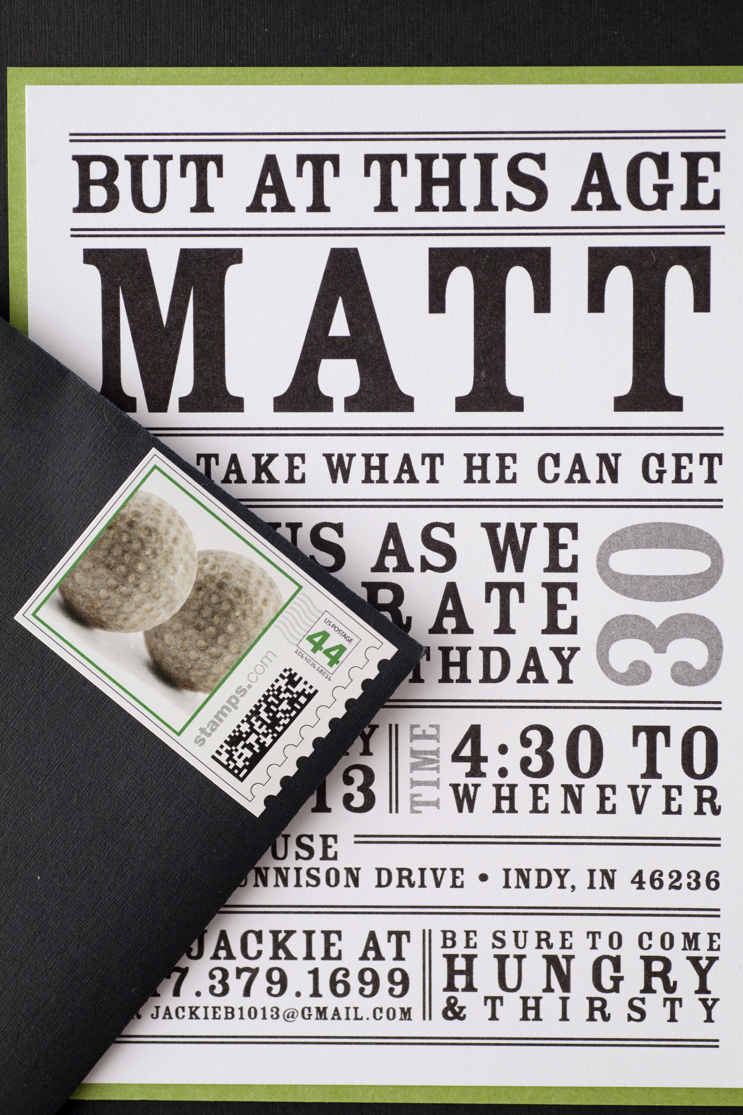 TENTHIRTEEN design TENTHIRTEEN design – Male 30th Birthday Invitations